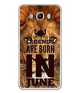 PrintVisa Designer Back Case Cover for Samsung Galaxy J5 (6) 2016 :: Samsung Galaxy J5 2016 J510F :: Samsung Galaxy J5 2016 J510Fn J510G J510Y J510M :: Samsung Galaxy J5 Duos 2016 (Legends are Born in June Birthday gift)