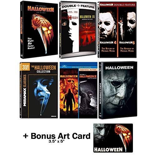 Halloween: Ultimate 11 Movie Collection: Complete Original + Rob Zombie Remakes + 2018 Sequel DVD Series + Bonus Art Card