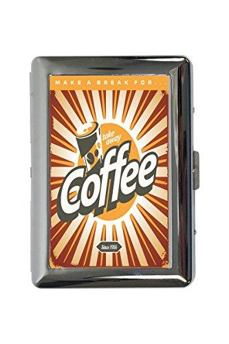LEotiE SINCE 2004 Zigarettenetui Box Fun Küche Kaffeepause Bedruckt -