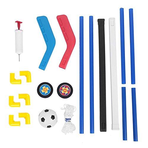 Yonhchop 2 In 1 Kinder Sport Kunststoff Hockeyschlager Eishockey Fu?Ball Fu?Ball Tore Balle Pumpe Praxis Spiel Spielzeug Set