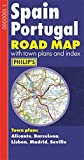 Philip's Spain and Portugal Road Map (Philips Road Map)