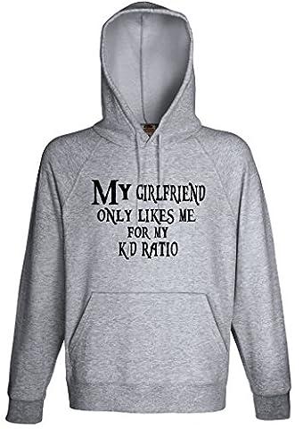 My Girlfriend Likes Me Cause My K/D Ratio Hoodie Custom Made Hooded Sweatshirt (S)