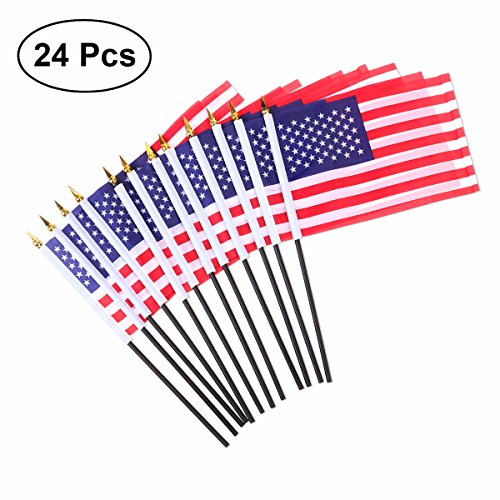 merikanische Hand Fahnen Mini USA National Land Hand Flagge für Paraden Scout Truppen Rückkehr 5,5