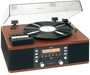 Teac LP-R500-CH Platine Vinyle / Lecteur Radio Cassette / Graveur CD - Bois