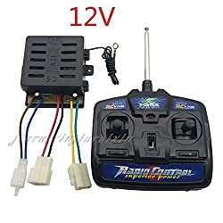 27mhz Universal Remote Control and 12V Receiver Kit Remote Controller Control Box Accessories for Kids Power wheels Car Children Electric Ride On Toys Parts
