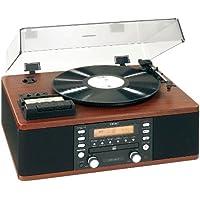 Teac LP-R500B Giradischi a 3 Velocità, Sintoamplificatore AM/FM con Masterizzatore di CD, Cassette