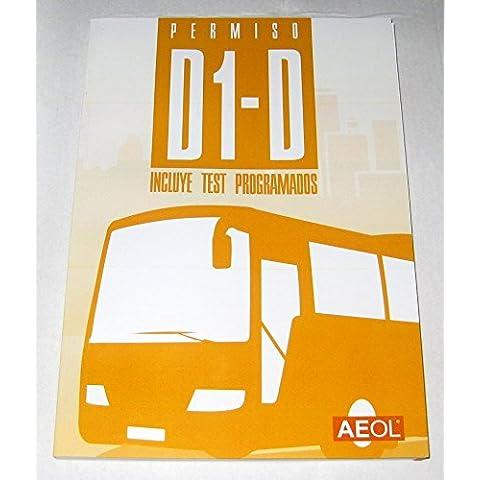 Libro, manual, permiso D o D1 AUTOBÚS Carnet por libre contiene 10 temas y 10 test