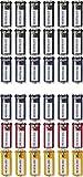 Durable Schlüsselanhänger mit Ring (36 Stück farbig sortiert)