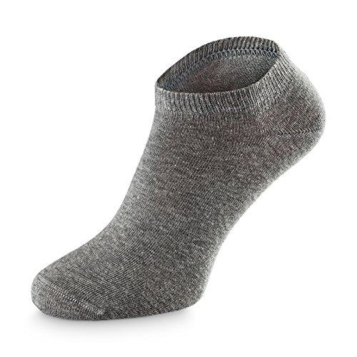 Herzberg Sneaker Socken für Damen/Herren, 6 Paar, grau, Größe 35-38