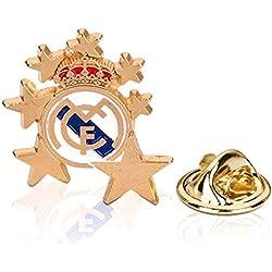 Pin Real Madrid estrellas escudo metálico dorado [AB2175]