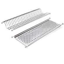 Emuca 8929865 Stainless steel dish drying rack for standard 80cm-widht kitchen cabinet