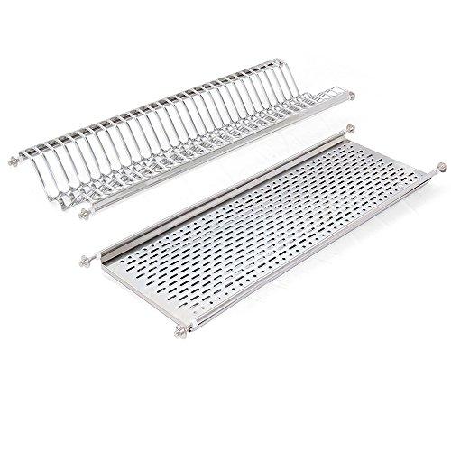 Emuca 8929865 - Escurridor de platos y vasos, de acero inoxidable para...