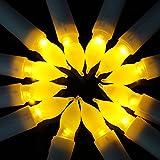 HanSemay sin llama Set de 12 velas LED Taper, Amarillo parpadeo bombillas Pilas LED Pilar velas para la decoración del hogar Cumpleaños, iglesias, fiestas y Navidad, baterías no incluidas (6.5 'H x 0.8' D)