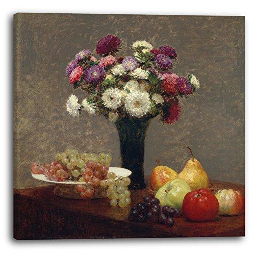 246bf2c45a1 Printed Paintings Impression sur Toile (40x40cm): Henri Fantin-Latour -  Asters et