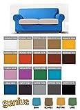 """Genius 4D - Biancaluna - Copridivano 2 posti per divani da 140 a 180cm - Colori tinta unita """"Color"""" da comunicare"""