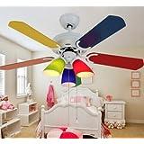 Dibujos animados infantiles lámparas ventilador de techo