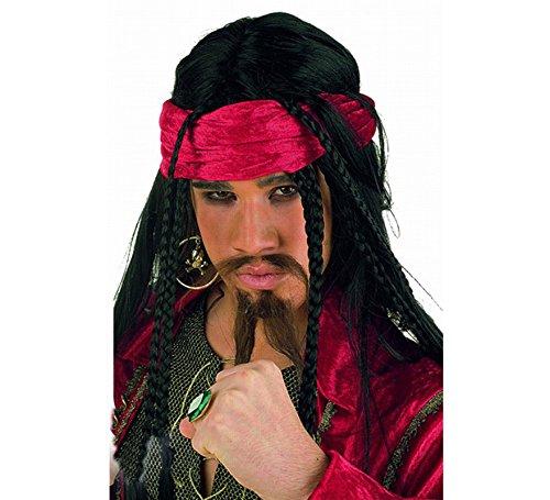 Jack Sparrow Stirnband Perücke - Elbenwald Perücke Buccaneer
