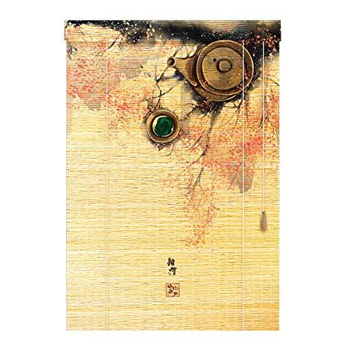 Shading Bambus-Bildschirm, Bambus-Jalousien/Roman Roller Shades, Hall Hanging Painting Halbschattierung Römischen Vorhang Retro, 3 Farben, Mehrere Größen Erhältlich, MTX Ltd, a, 75X225CM -