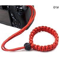 bearcolo geflochten Kamera Handgelenk Gurt Seil verstellbar Paracord Kamera Armband Handschlaufe für Kameras, Ferngläser und Camcorder