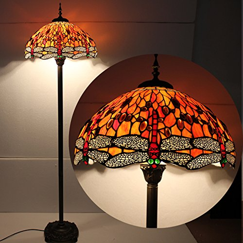 Firedrop Dragonfly 18inch Tiffany Floor Lamp