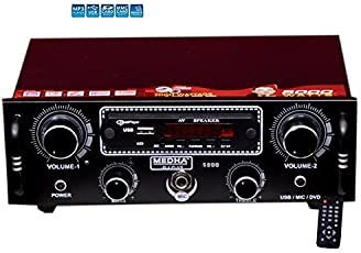 MEDHA D.J. PLUS Car Home Stereo Audio Amplifier Mp3 Music Player USB, Bluetooth ,FM Radio, Aux In