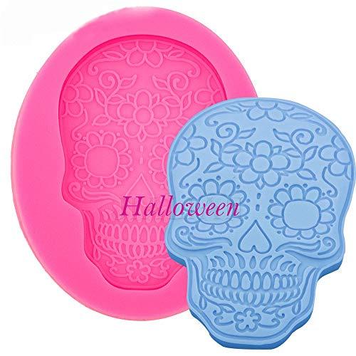 Molde de silicona para galletas, diseño de calavera