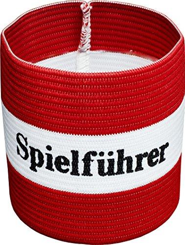 Cawila Fußball, Armbinde, Kapitänsbinde \'Spielführer\', verschiedene Farben und Größen (rot/weiß, Senior)