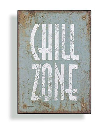 Wandschild Metall Shabby Dekoschild Chill Zone Dekoration von Haus der Herzen ®