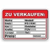 AUTO ZU VERKAUFEN - Verkaufsschild - SCHILD / D-033 (45x30cm Schild)