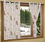 ELAN Cotton Rosa Print Stylish Window Cu...