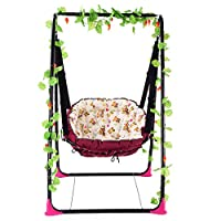 SHARESUN Adult children with bracket hanging swing chair hammock, with friction angle foldable portable leisure rocking chair, baby cradle, outdoor, indoor, balcony, garden, 168 * 95.5 * 91cm