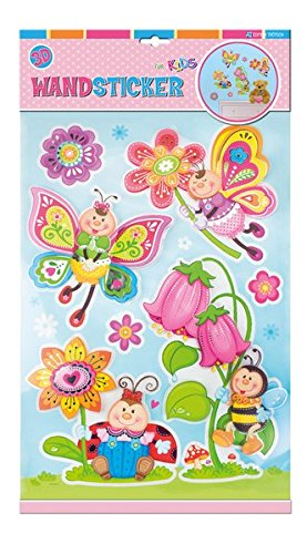 WIESENFREUNDE Wandsticker / Wandbild / Dekoration für Kinderzimmer