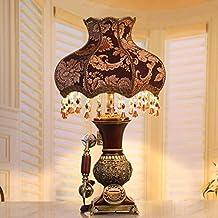 MDRW-European retro - lamparas de noche, lampara de mesa de salon decorativa