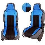 Akhan CSC102 - Sitzauflage Sitzschoner Schwarz/Blau