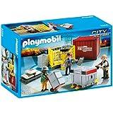 Playmobil - 5259 - Jeu de Construction - Ouvriers avec Marchandises