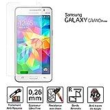TM-Concept ® película/cristal de protección pantalla–Samsung Galaxy Grand Prime–Cristal Templado HQ Ultra resistente (Cassia & Rayas)–Ultra Slim (0,26mm) con bordes redondeados–Protección y un confort D?Uso Optimal