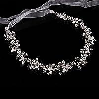 Nuziale Fiore Fascia Accessori con Perline e Cristalli per Capelli Accessori  Decorazione Capelli Matrimonio Sposa 2e5a2b4cfc32