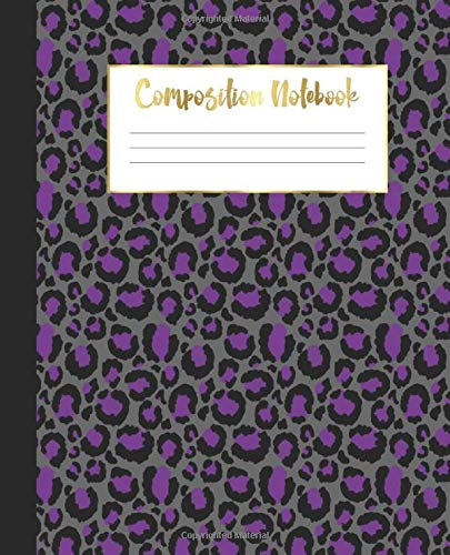Composition Notebook: Wide Ruled Notebook   Cheetah Leopard Animal Print   Lined Journal   100 Pages    7.5 x 9.25