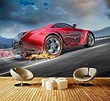 Premium Vliestapete Sportwagen in Action Fototapete DA00000334 Vliestapete XXL S 200 x 140cm - 4 Teile - Vlies