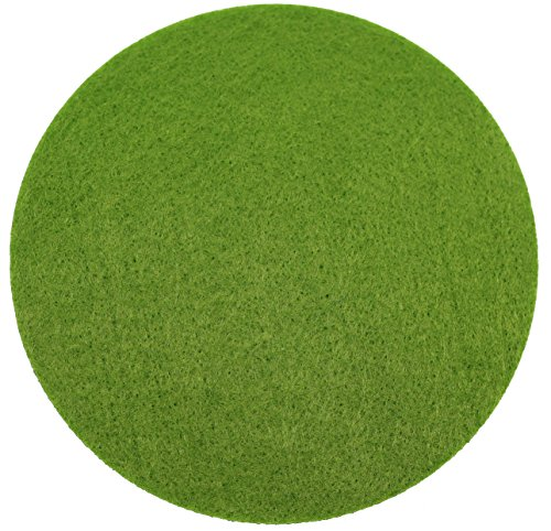 Filz Untersetzer Rund 8 Stück Grün 10x10x0,3cm