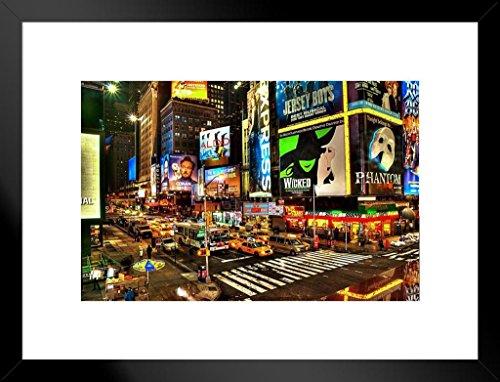 Poster Gießerei Precious Broadway Midtown Manhattan New York City NYC Beleuchtet Foto Kunstdruck von proframes 26x20 inches Matted Framed Poster
