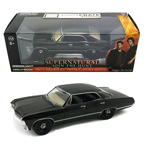 greenlight-hollywood-supernatural-join-the-hunt-diecast-car-1967-chevrolet-impala-sport-sedan-164-sc