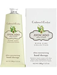 Crabtree & Evelyn - Hand Therapy - Soin pour les mains - Avocat/olive/basilic - 100 g