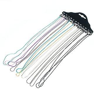 Amasawa Metall Brillenkette(12 Stück),Multicolor Mode Brillen Halter Kette Brillenband/Brillenkette/Brillen Cord/Sonnenbrille Kette Hals Lanyard/Brillenhalter Hals Cord Strap.