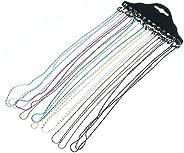 Amasawa Cadena de Gafas(12 Pcs),vidrios de moda multicolor cadena de cadena gafas/gafas cadena/gafas línea/gaf