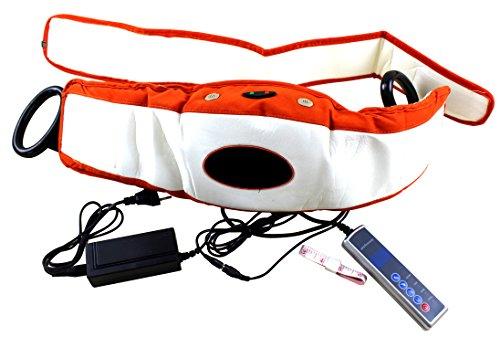Massage Gürtel Vibration Massagegerät Bauchtrainer Muskeltraining Weiß-orange Abnehmgürtel