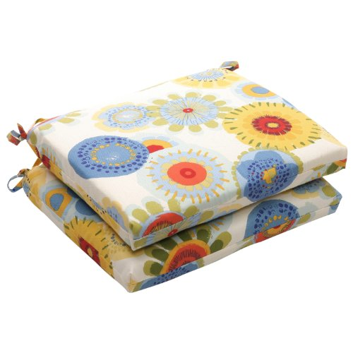PERFECT PILLOW Kissen Blumenmotiv perfekt Indoor/Outdoor farbenreiche quadratisch, Sitzkissen, 2er Pack - Schmiedeeisen Patio-möbel-sets