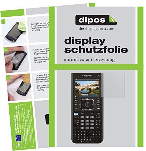 Texas Instruments TI Nspire CX CAS Taschenrechner Schutzfolie - 2x dipos Displayschutzfolie Folie matt