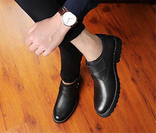 TMKOO Autunno e inverno nuove scarpe da uomo scarpe grandi scarpe Martin scarpe casual da uomo scarpe marea britanniche Nero