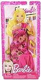Barbie Festmoden X7847 - Kleid in pink, beglittert mit Schuhen und Handtasche - Modell 2013
